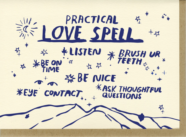 Card, Practical Love Spell