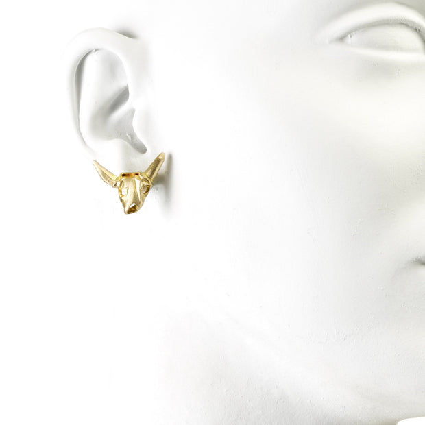 Small Cow Skull Earrings