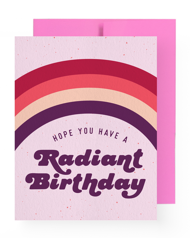 BD Greeting Cards, Radiant Birthday