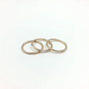 Hammered Stacking Ring, 14k Goldfill