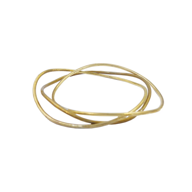 Sway Bangle, Brass or Silver