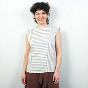 Mirage Top, Striped Linen