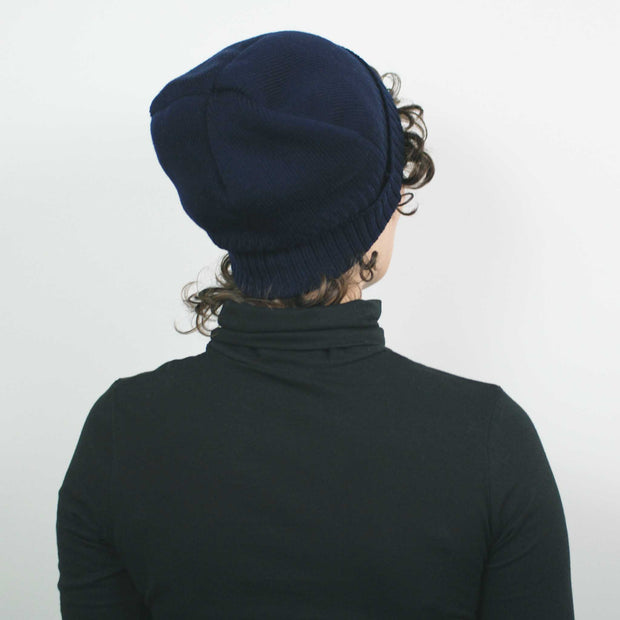 Knitted Watch Cap, Navy