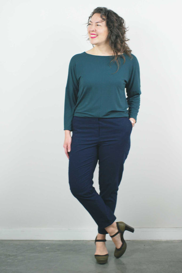 Long Sleeve Top, Everglade