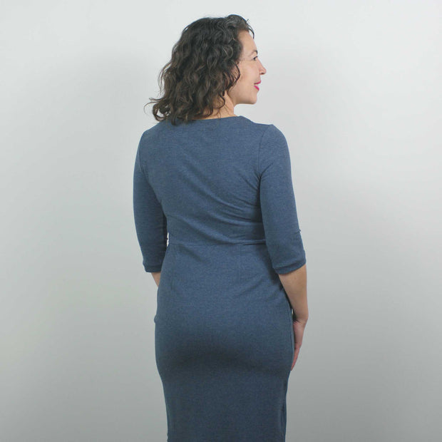 Jersey Dress, Heather Blue
