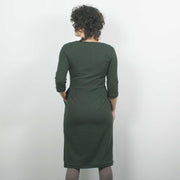 Jersey Dress, Forest Green