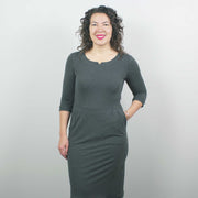 Jersey Dress, Heather Grey