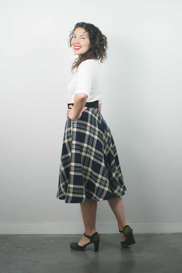 Bleeker Skirt, Plaid Wool Mix