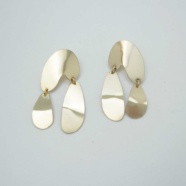 Float Earrings, Brass