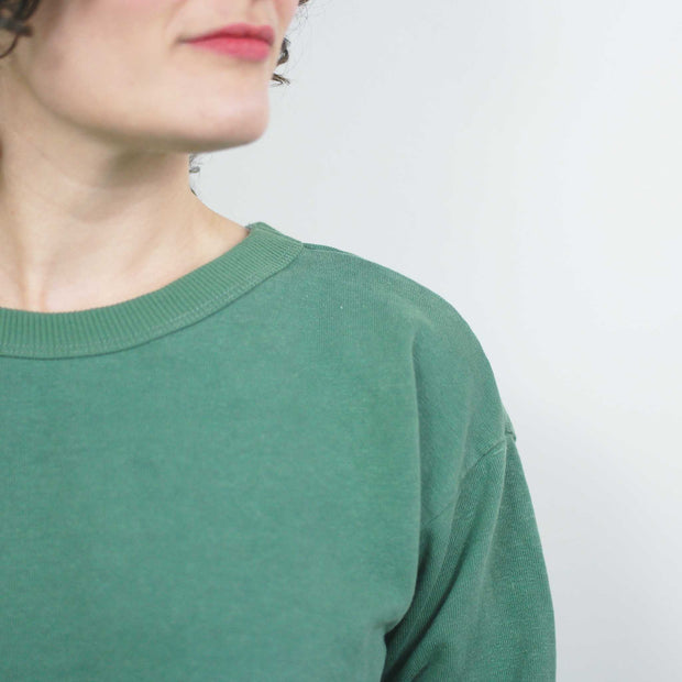 Laguna Cropped Sweatshirt, Spruce Green