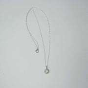 Jade Cove Necklace, Sterling Silver + Moonstone