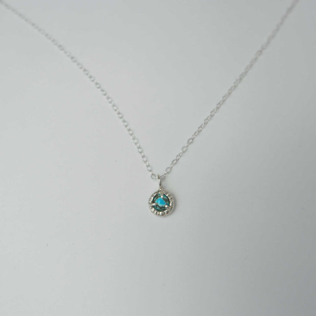 Jade Cove Necklace Silver, Turquoise