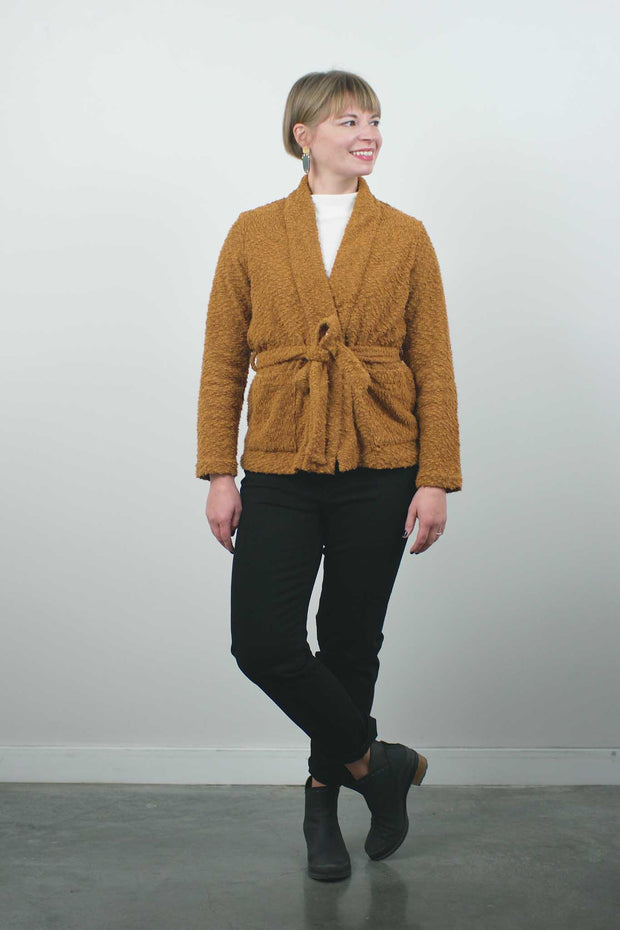 Pebble Knit Jacket, Toffee