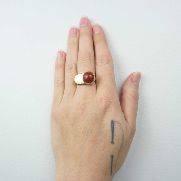 Esposa Ring in Brass with Jasper