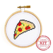 Cross Stitch Kit, Mini Pizza