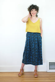 Cler Skirt, Blue Circles