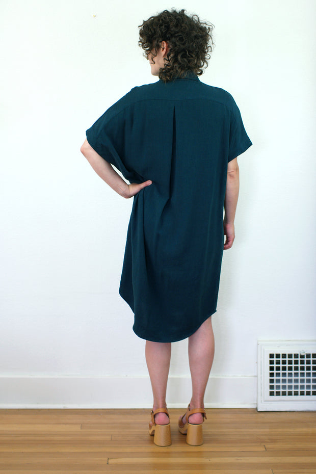 Daman Dress, Teal