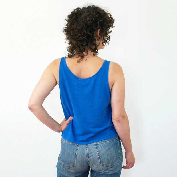 Cropped Tank, Lake Blue