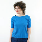 Boxy Tee, Lake Blue