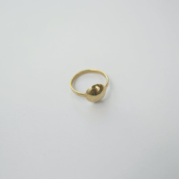 Dome Ring, Yellow Bronze