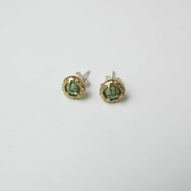 Jade Cove Earrings, Brass