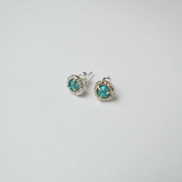 Jade Cove Earrings, Silver