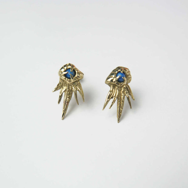 Montara Earrings, Brass