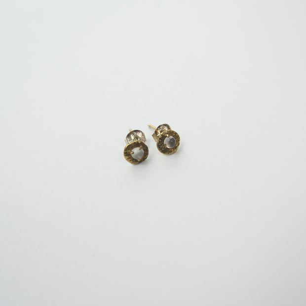 Solstice Earrings, Brass