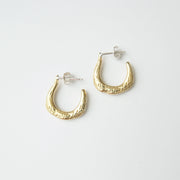 Pull Earrings, Brass