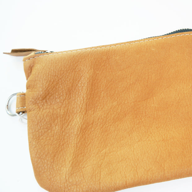 Large Zip Pouch Round Bottom, Toffee