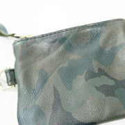 Small Zip Pouch Round Bottom, Camouflage
