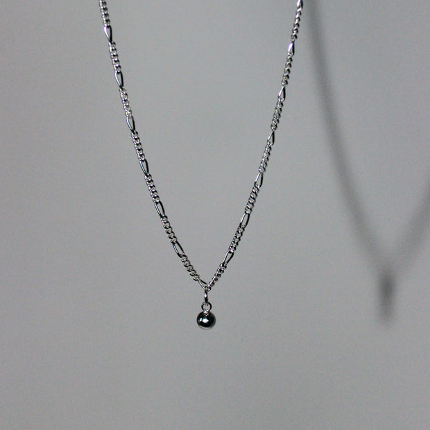 Wrecking Ball Necklace, Sterling Silver