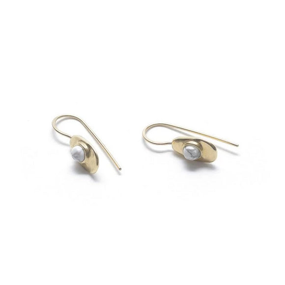 Betty Earrings, Brass
