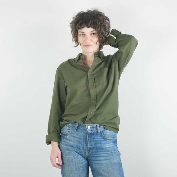 Cotton Unisex Shirt, Olive