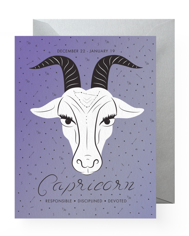 BD Greeting Cards, Capricorn