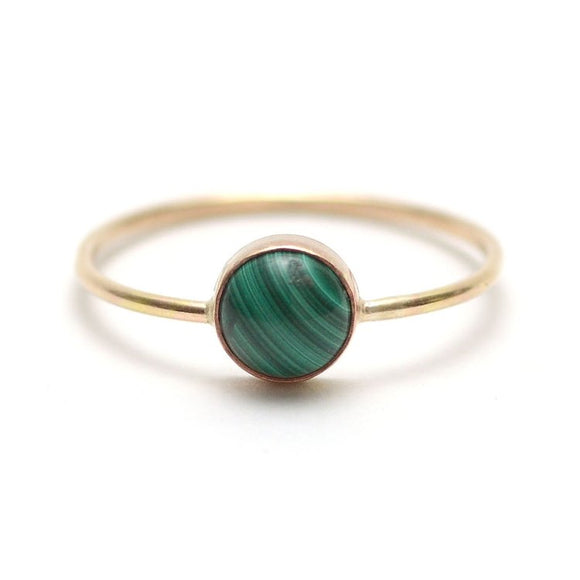 Gumdrop Ring, Malachite