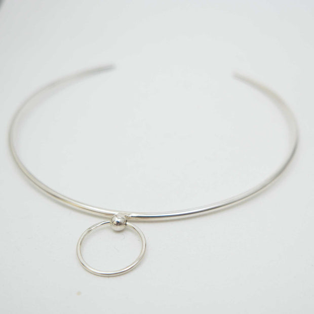 Bondage Collar, Brass or Silver