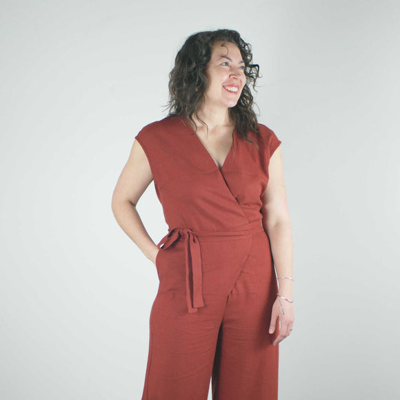 Cicely Jumpsuit, Cayenne