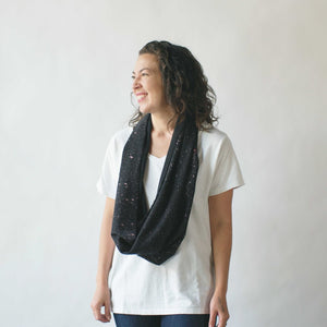argaman & Defiance _ velouria _ infinity scarf _ black with rose gold speckles 1.jpg