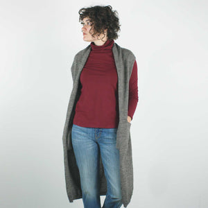 Lola Vest, Brown Mouline