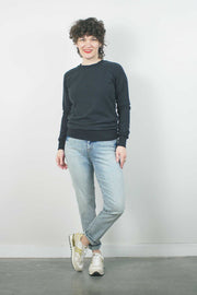 Alpine Raglan Sweatshirt, Black