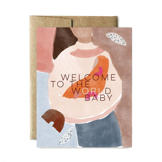 Ferme a Papier Card, World Welcome Baby
