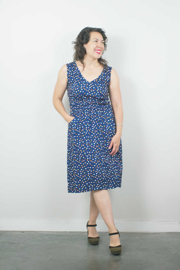 Fiji Dress, Multi Polka Dot