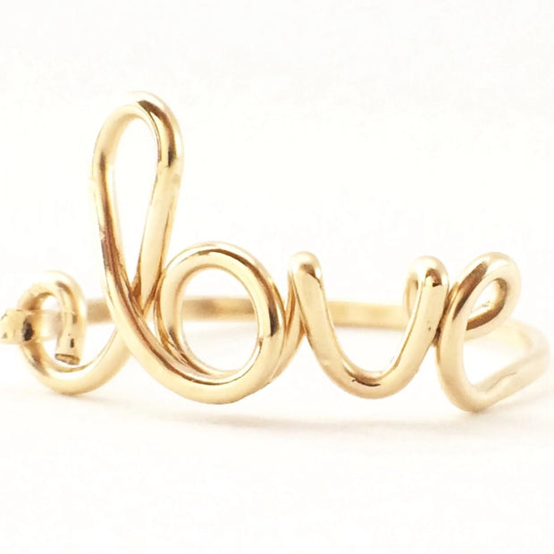 The Alisa Love Ring, 14k Goldfill