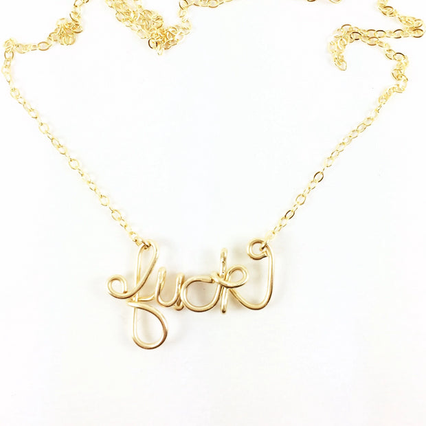 Not Your Mama's Necklace, 14k Goldfill