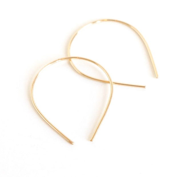 *Mini Slip Hoops, Sterling Silver