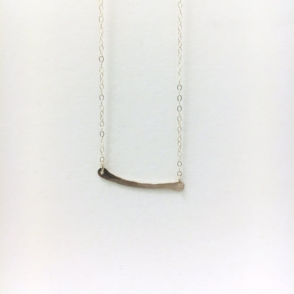 Hammered Bar Necklace, SS