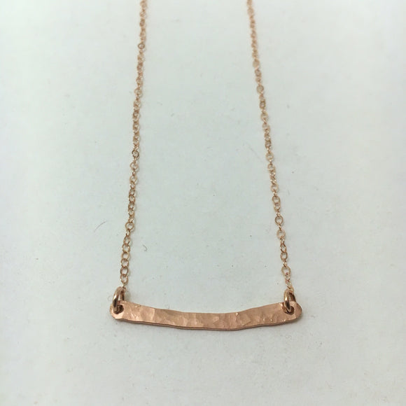 Hammered Bar Necklace, RGF