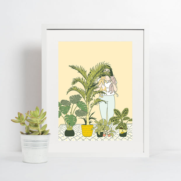 Giclee Print 4x6, Houseplants