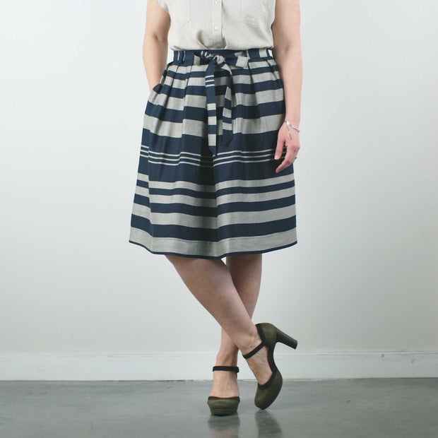 Cristales Skirt, Navy Stripe